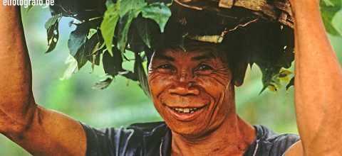 Landwirt auf Bali