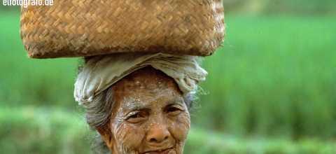 Arbeiterin auf Bali