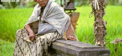 Alter Mann auf Bali