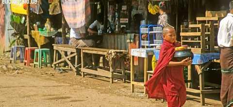 Junger Mönch in Burma