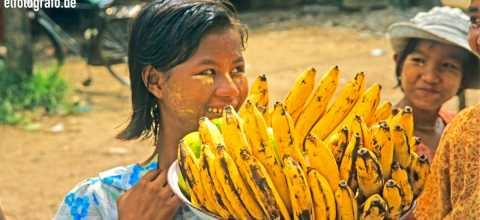 Bananenverkauf in Burma