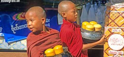 Junge Mönche in Burma