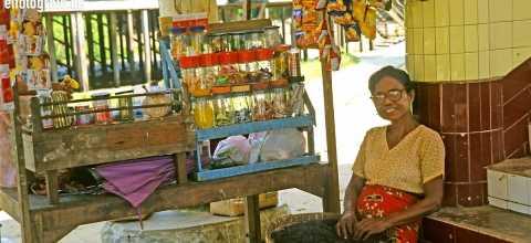 Marktverkäuferin in Burma