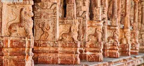 Tempelfassade in Indien