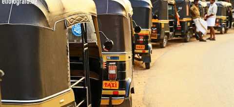 Rikscha Taxen in Indien