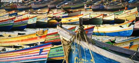 Fischerboote in Indien