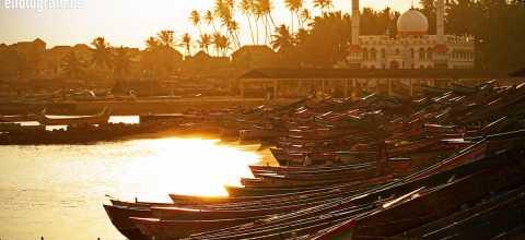 Fischerhafen in Indien
