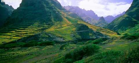 Vulkanlandschaft auf den Kapverden