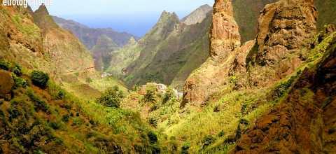Felsen und Berge auf den Kapverden