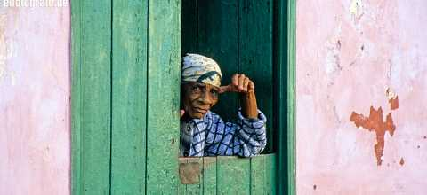 Alte Frau auf den Kapverden