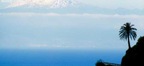 Blick auf El Tiede von La Gomera