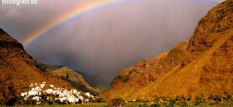 Regenbogen über Calera auf La Gomera