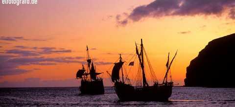 Historische Segelschiffe vor La Gomera