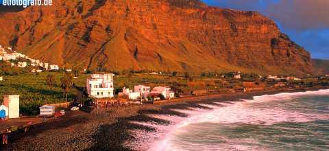 Strand von La Playa auf La Gomera