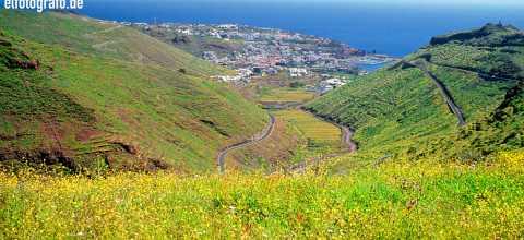 San Sebastian mit El Tiede im Hintergrund auf La Gomera