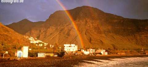 Regenbogen La Playa auf La Gomera