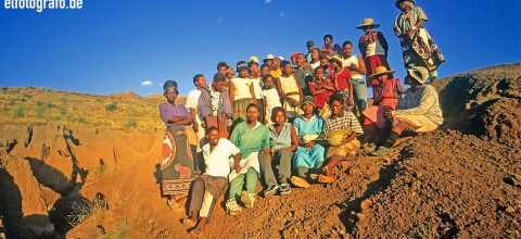 Dorfbewohner in Lesotho