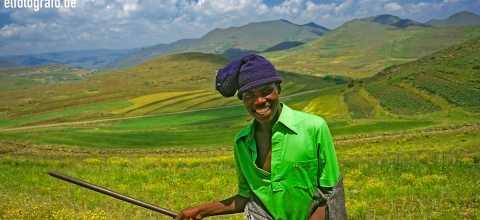 Junger Mann in Lesotho