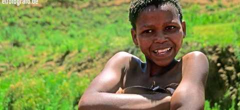 Junge in Lesotho
