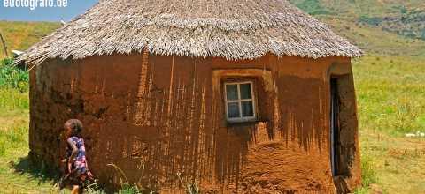 Lehmhütte in Lesotho