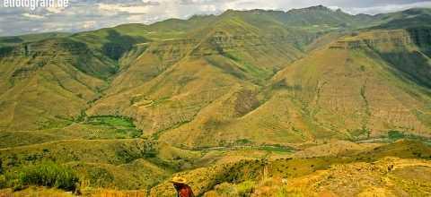 Mann in Lesotho