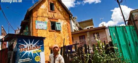 Wohnhäuser auf Madagaskar