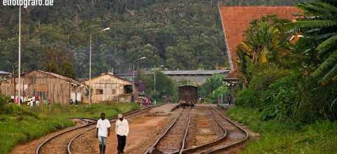 Gleisanlage auf Madagaskar