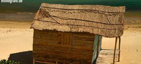 Hütte am Strand auf Madagaskar