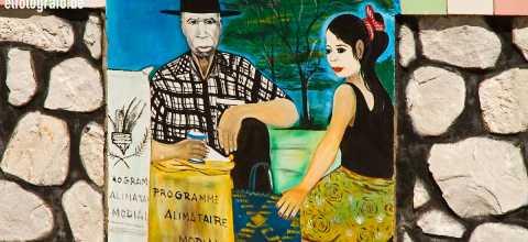 Wandmalerei auf Madagaskar