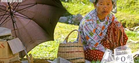 Marktfrau in Malaysia