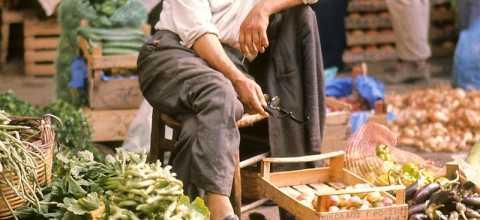 Marktverkäufer in Marokko