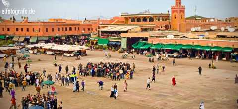Platz in Marrakech Marokko