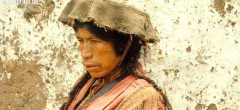 Frau in Südamerika