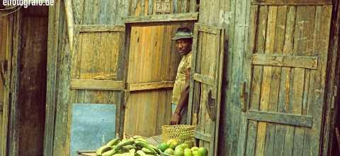 Obstverkäufer in Südamerika