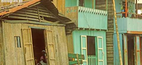 Holzhäuser in Südamerika