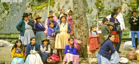 Bahnsteig in Südamerika