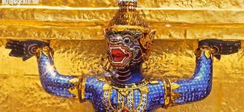 Tempelfigur in Thailand