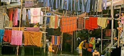 Waschtag in Thailand