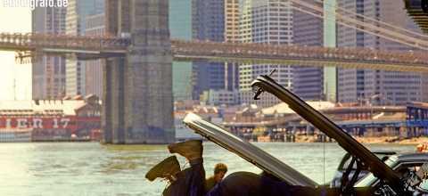 Auto schrauben am Hudson River New York