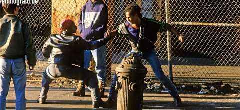 Street fight in New York