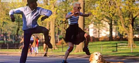 Tänzer im Central Park New York