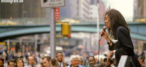 Strassenpredigt in New York